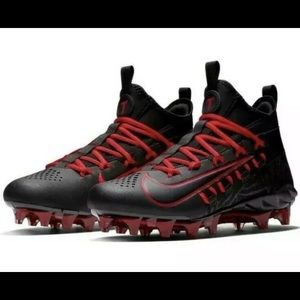 NEW Nike Alpha Huarache 6 Elite Black LAX Cleats
